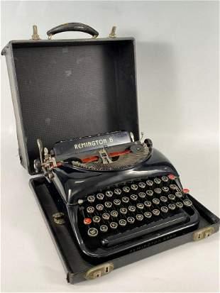 Remington 5 Black Typewriter in Case