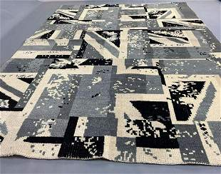 Large Modernist Oushak Rug