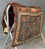 Fine Persian Handwoven Camel Bag, Probably Turkeman