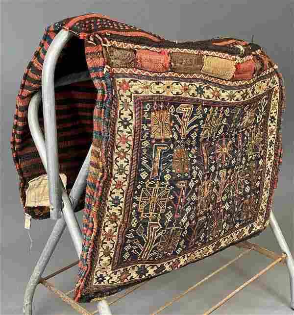 Fine Persian Handwoven Camel Bag, Probably Turkeman