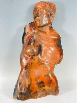 Ceramic Bust of a Woman, 20th Century Modernist School,