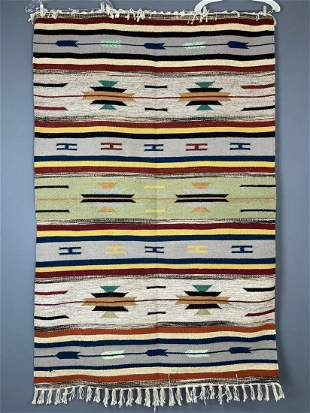 Handmade Wool Rug Tribal Kilim,, Grey, Blue, Red, Green