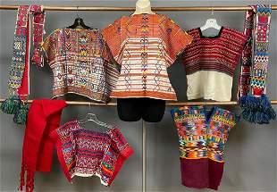 9 Vintage Child Sized Guatemalan Mesoamerican Textiles
