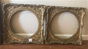17th to 18th century gesso frames