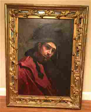 Spanish impressionist school portrait, oil on canvas
