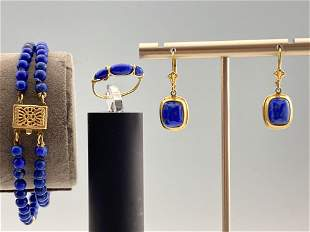 14k Gold And Lapis Jewelry