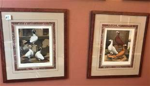 Pair of 19th century Vincent brooks lithographs from