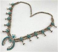 Rare Olderâ Zuni Squash Blossom Necklace