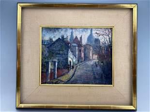 Louis Dali Oil On CanvasâOf Paris Street Scene