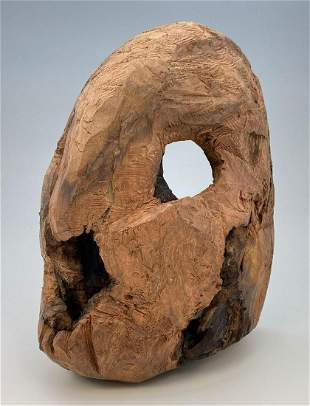 California Folk Art Redwood Burl Mask