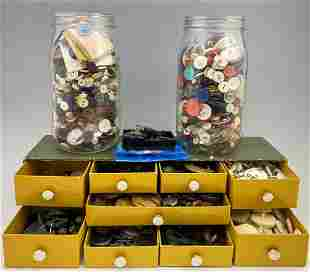 Nice Antique And Vintage Button Collection