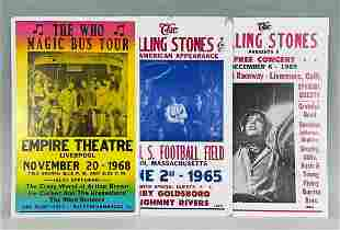 3 Vintage Rolling Stones and The Who Rock Concert