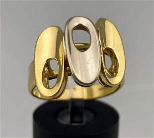 Modernist 18k Gold Ring. 6g