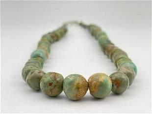 Santo Domingo Pueblo Turquoise Necklace, 88g