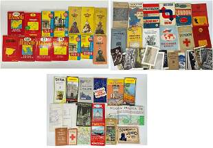 Large Ephemera Lot of Travel, Postcards, And More