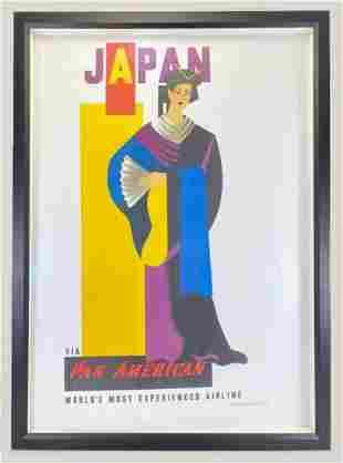Vintage Pan Am Japan Poster