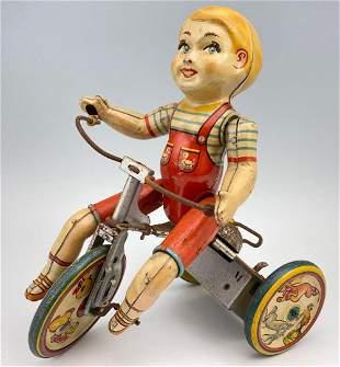 Kiddy Cyclist Metal Mechanical Tin Toy