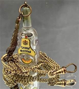 Unusual Grand Macnish Scotch Whiskey fob on 12k gold