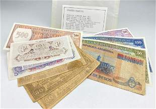 Cavanaugh Collection of 10 Bills of Foreign Currency