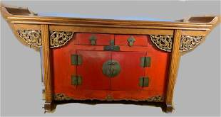 Antique Chinese Lacquered Hardwood Altar Table