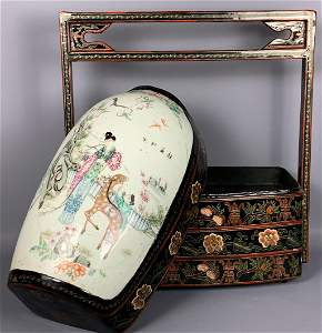 Chinese Qing Dynasty Porcelain Lidded Republic Period