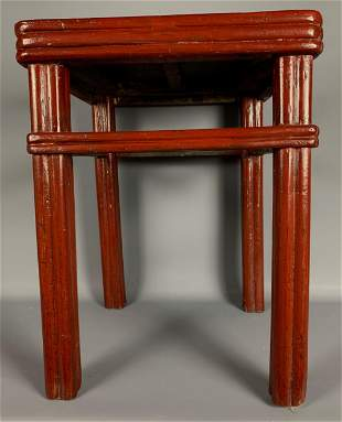 Older Chinese Red Lacquered Table