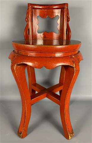 Chinese Red Lacquered Chair