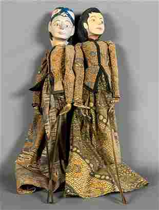 Vintage King and Queen of Thailand Ceramic & Cloth