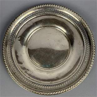 Sterling silver reticulated dish, 110 g