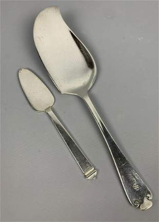 2 Tiffany and Company sterling silver serving pieces