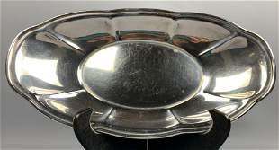Moss sterling silver serving dish, 409 g