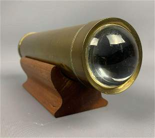 Antique brass kaleidoscope with stand