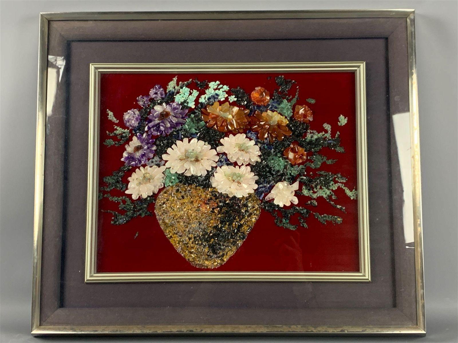 Asian Floral Rose Quartz, Amethyst arrangement