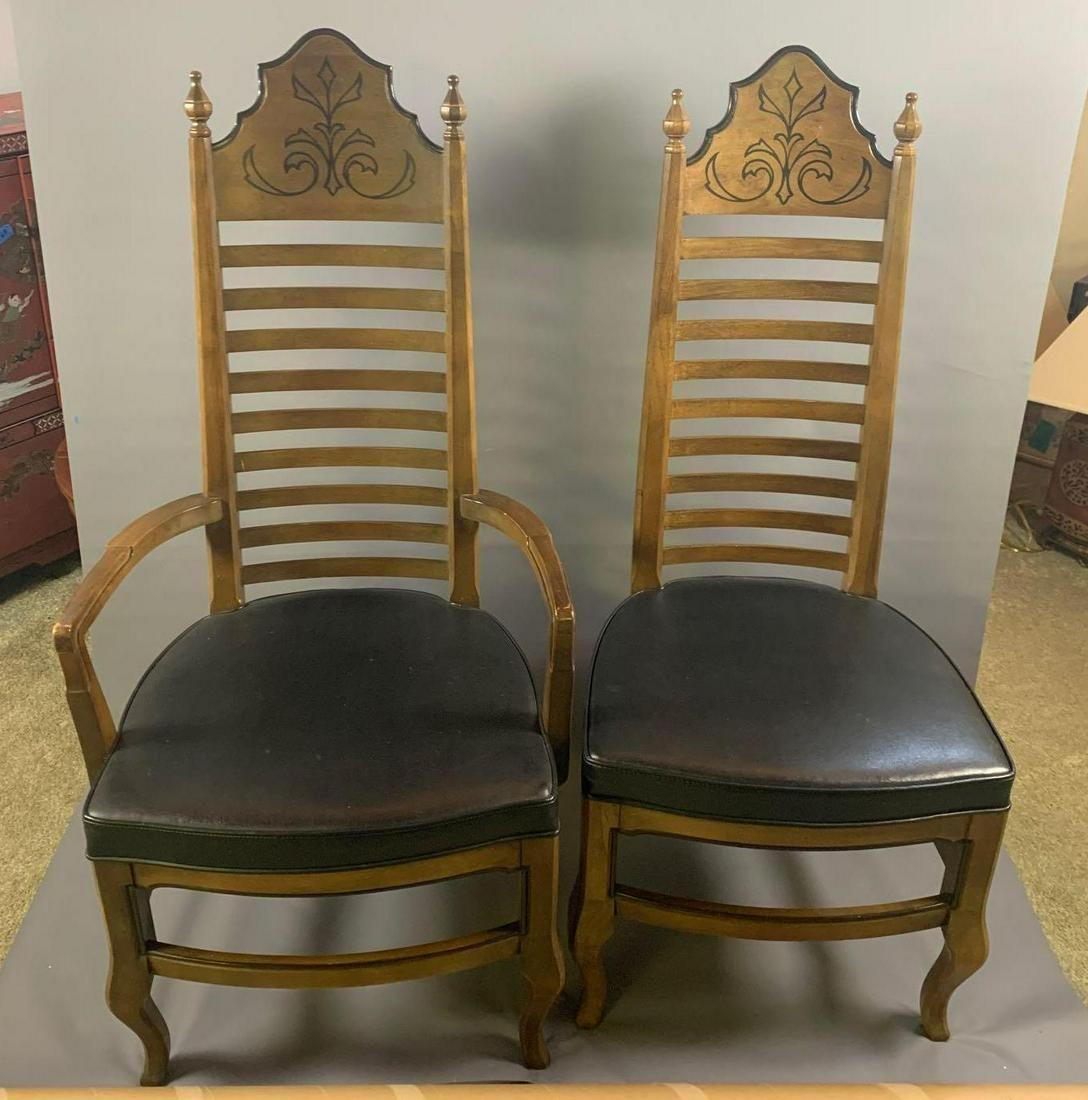 Set of 8 Drexel Esperanto Ladder back chairs