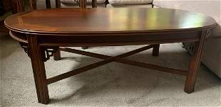 Vintage LANE cocktail table, Wood inlay