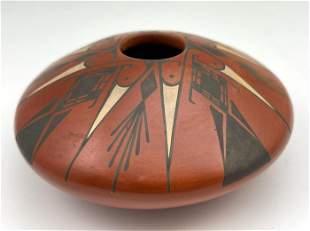 Red Clay Mata Ortiz Pottery By Artist Angel Amaya