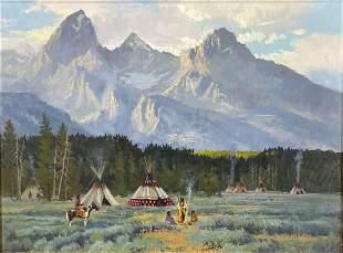 Donald Ricks (1929-1996 American), Native American