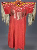 Exceptional Plains Indian Beaded Dress With Cowrie