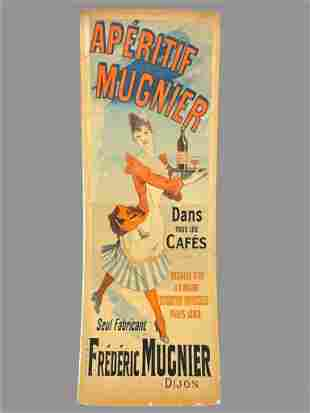 Aperitif Mugnier By Julius Cheret, Large French Poster.