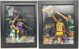 3 Magic Johnson no. 32 Signed Photographs