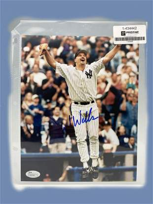 Photo Signed by New York Yankees David Wells.
