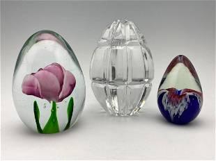 3 Art Glass Eggs, Glass Eye Studio