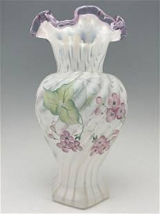 Fenton Hand Painted Vase, K. Brightbill