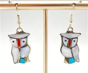 Zuni Owl Earrings 4.8 g