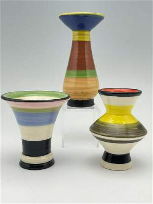 3 Peter Shire Vases With With Expo Mark