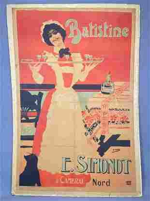 Batistine French Liqueur Poster, by Henri Gray