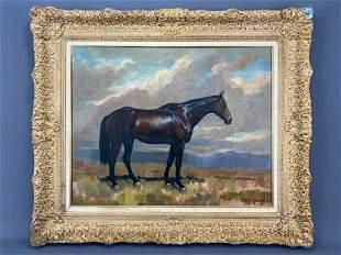 Portrait of a Horse, Andre Boratko, California, Oil on