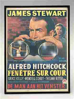 James Stewart Alfred Hitchcock Movie Poster