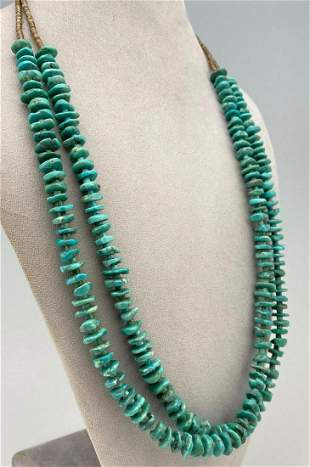 Navajo Turquoise Double Strand Necklace