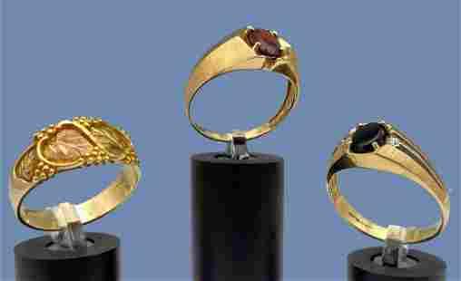 3 Gold 10k Rings. 13.9g